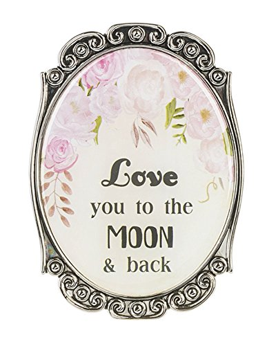 Ganz Home Decor Love & Blessings 2.75 inch Mini Motivational Message Magnet/Plaque ~ Blooming Lovely Series (Love You to the Moon & Back)
