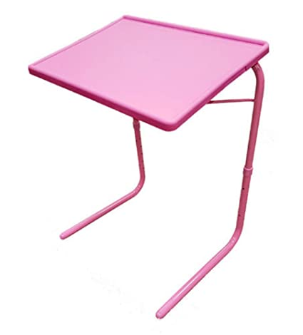 Fantastic Amazon Com Pink Portable Tv Tray Table W Cup Holder Home Remodeling Inspirations Genioncuboardxyz