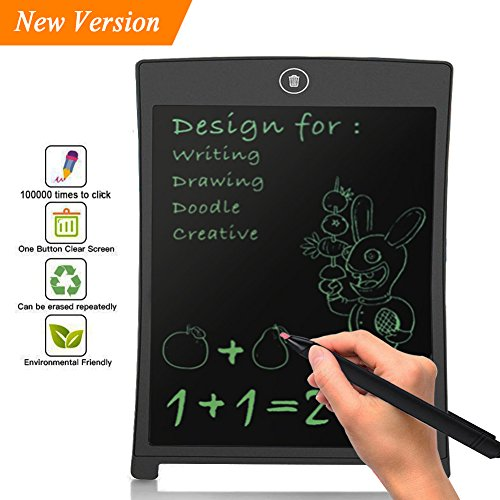 - Lonchan 8.5 inch LCD Writing Tablet Doodle Board Kids Writing Pad, Electronic Writing Board,Graphic Pad,Digital Drawing Board for Childrens Kids Gifts,Elder Message Board,Family Memo and Office