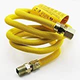 """72"""" Flexible Stainless Steel Gas Appliance Line with 1/2"""" OD 1/2 MIP x 1/2 FIP"""