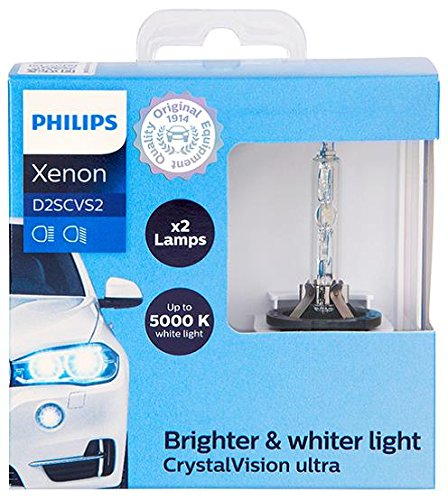 Philips D2S CrystalVision ultra Xenon HID Headlight Bulb, 2 Pack by Philips