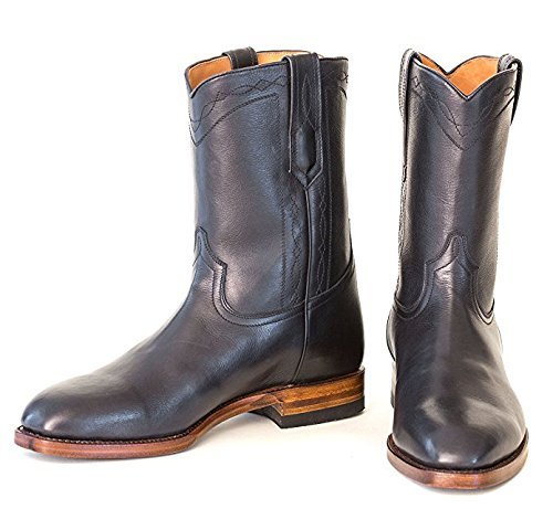 Ranch Road Boots Men's Bahia Cowboy Boot with Roper Heel US 11.5 Black - 10' Ropers Leather