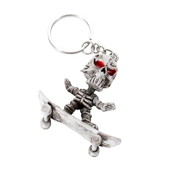 Kalttoy Skull Skeleton - Llavero con colgante de monopatín ...
