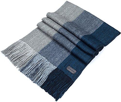 Mio Marino Winter Knit Scarf for men, Fashion Stripe Scarve in an elegant gift box