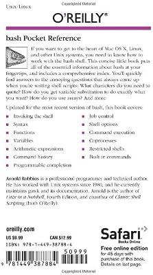 bash Pocket Reference: Arnold Robbins: Amazon com