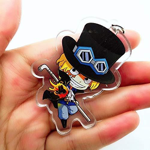 Amazon.com : Anime ONE Piece Zoro Luffy Acrylic Key Chain ...