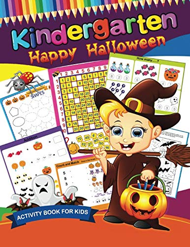 Kindergarten Happy Halloween: Easy and Fun Activity Book for -