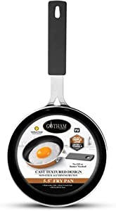 "Gotham Steel Mini Nonstick Egg & Omelet Pan – 5.5"" Single Serve Frying Pan / Skillet, Diamond Infused, Multipurpose Pan Designed for Eggs, Omelets, Pancakes, Sliders, Rubber Handle, Dishwasher Safe"