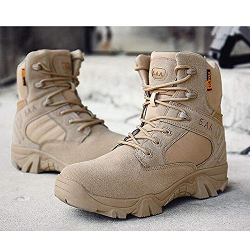 Militari ASJUNQ L'escursionismo Uomo da Stivali Stivali Stivali Combattimento Yellow da per Traspiranti Tattici Bx0qA6Xrw0
