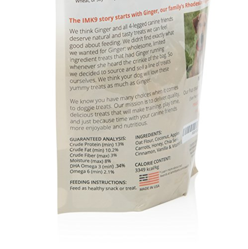 Natural Dry Dog Training Treats - Low Calorie - Limited Ingredient Made in USA - Organic, Healthy, Balanced, Diet Treat Bag - for a Small Puppy, Big Pets - Grain, Gluten Free - Peanut Butter, Coconut