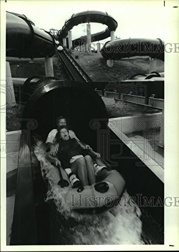 Historic Images 1993 Press Photo Water tube ride at Great Escape Theme Park in New York - 10.25 x 7.25 in (Best Theme Park Ride Photos)
