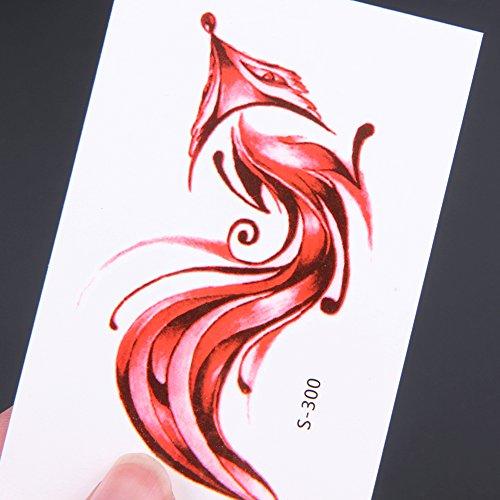 Globeagle 10 Sheets Fashion Fox Temporary Tattoo Stickers Waterproof Body Art (S300)