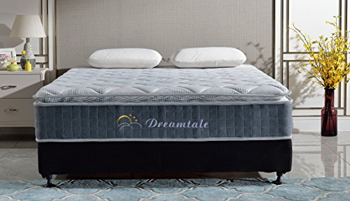 (Dreamtale 10 Inch Pocket Spring Euro Pillow Top Mattress)