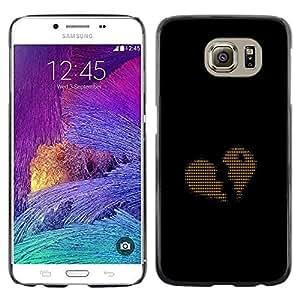 Stuss Case / Funda Carcasa protectora - Ascii Código Corazón Amor binario - Samsung Galaxy S6