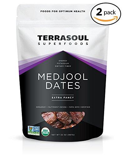 Terrasoul Superfoods Organic Medjool Dates, 4 Pounds