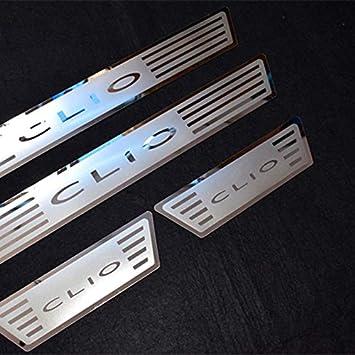 Battitacco in acciaio inox per CLIO IV CLIO 4 portellone portellone da porta accessorio argento 2016-2018