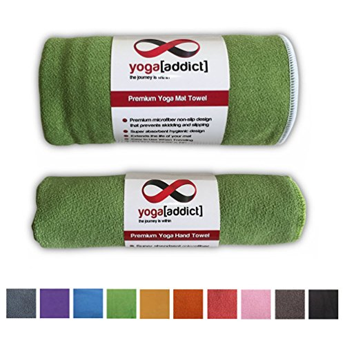 Yogaaddict Yoga Mat Towel And Hand Towel Combo Set: Wellsem 5.5 Yards(Complete Set) Aerial Yoga Pilates