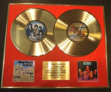 Deep Purple Double Gold Vinyl Record Cd Display Limited Edition Coa Deep Purple In Rock Burn Küche Haushalt