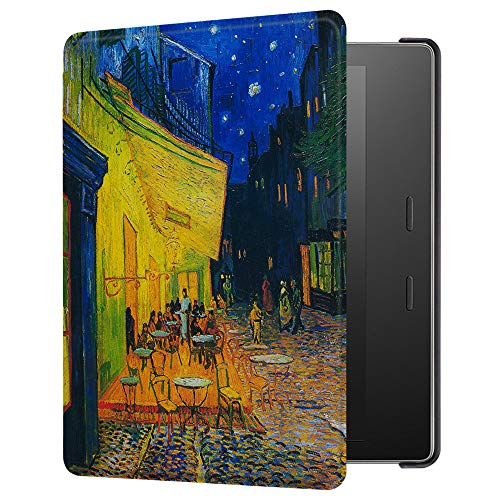 Huasiru Painting Case for Amazon Kindle Oasis 2017 (7 inches, 9th Generation 2017 Released) Cover with Auto Sleep/Wake, Coffee Shop