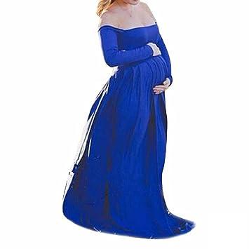 Babysbreath Mujer chica plana hombro manga corta cintura alta Gravida embarazada vestido de maternidad falda robe