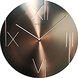 Unek Goods NeXtime Galileo Wall Clock,  Copper, Metal, Battery Operated, Round