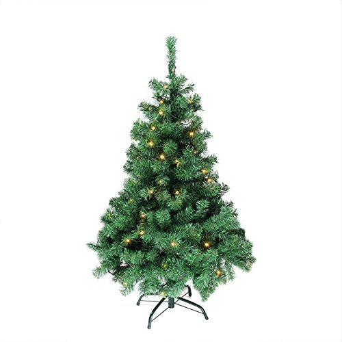Mixed Pine Artificial Tree (Northlight Pre-Lit Mixed Classic Pine Artificial Christmas Tree with Warm Clear LED Light, 4' x 30