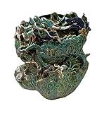 Handmade Green Color Kirin Shape Wall Hanging Vase Flower Pot Planter an309