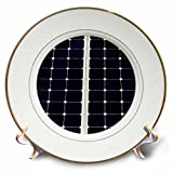 3dRose Alexis Photography - Objects - Dark blue solar power panel divided into two parts by white frame - 8 inch Porcelain Plate (cp_271344_1)