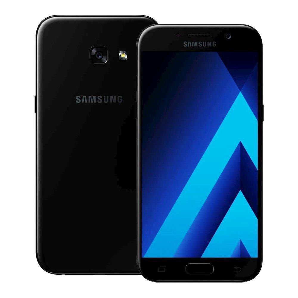 """Samsung Galaxy A5 (2017) SM-A520F/DS 32GB Black Sky, 5.2"""", Dual Sim, Unlocked USA & Latin America Model, No Warranty"""