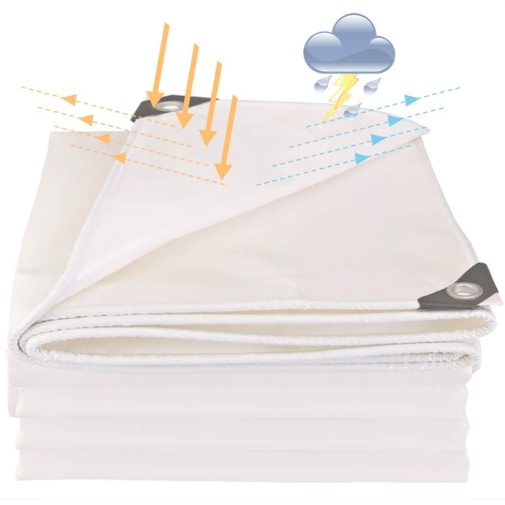 YANGJUN-Plane Anti-UV Regenfest Wasserdicht Sonnencreme Staubdicht Winddicht Staubdicht Sonnencreme LKW Draussen, 0,45 Mm (Farbe : Weiß, größe : 1.9x1.9m) 125f0f
