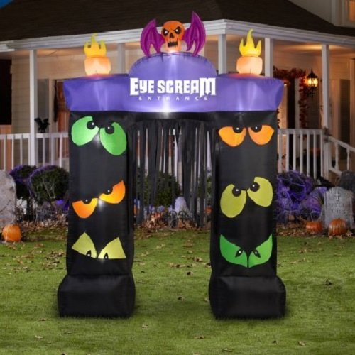 Inflatable Halloween Decoration 9.5 Feet Gemmy Airblown Archway Eye Scream Yard Garden Outdoor Entrance - Small Frankenstein Decoration Display
