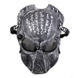 ATAIRSOFT Tactical Airsoft Paintball Alien Vs Predator Protective Full Face Mask Silver Black
