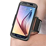 Galaxy S6 Armband, SUPCASE Easy Fitting Sport Running Armband with Premium Flexible Case Combo for Samsung Galaxy S6 (Black)