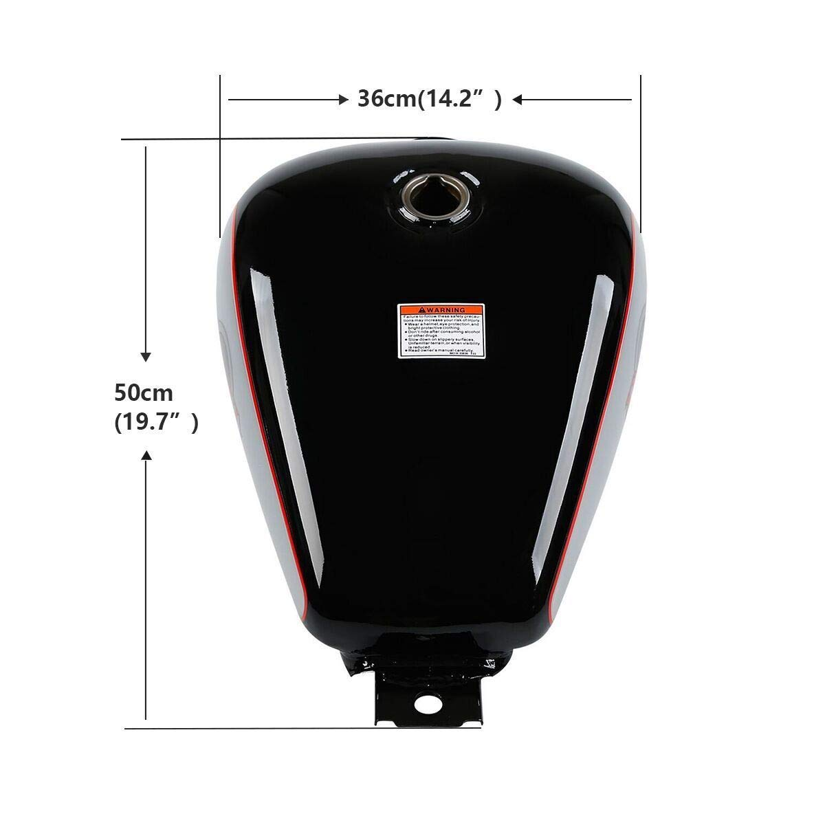 TCMT Motorcycle 3.4 gallons Fuel Gas Tank Fits For Honda CMX250 ...