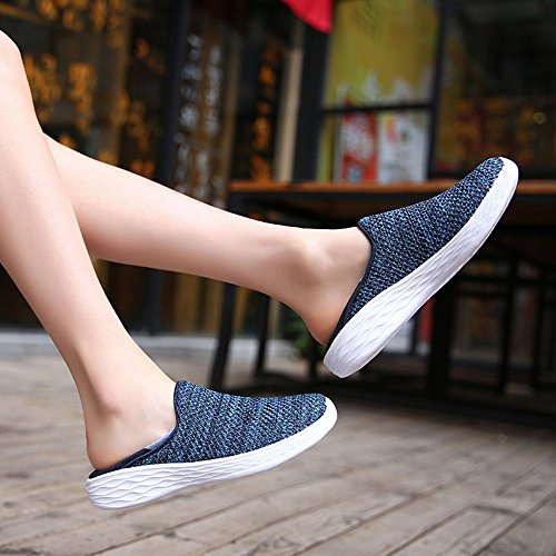 VILOCY Women's Mesh Athletic Shoes Casual Lightweight Outdoor Brethable Running Sneakers Blue v6k8W60uyK
