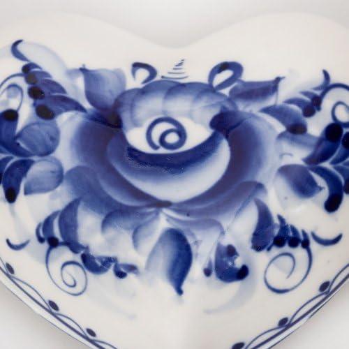 Little Heart Porcelain Box Gzhel