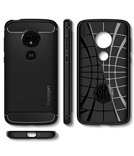 Spigen Rugged Armor Moto E5 Play Case with Flexible and Durable Shock Absorption with Carbon Fiber Design for Motorola Moto E5 Play (2018) - Black by Spigen (Image #7)