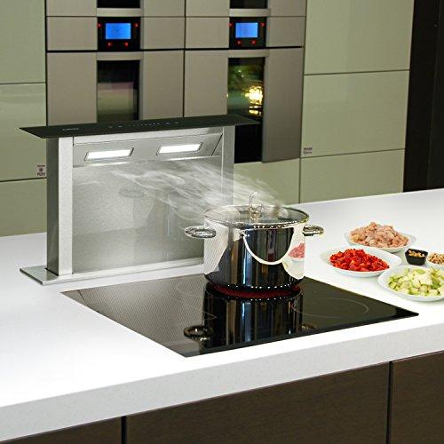 Klarstein Royal Flush Downdraft • Cappa Aspirante da Cucina a Scomparsa • 4  Livelli • Timer • 430 m³/h • Illuminazione • 60 cm • Design Elegante • ...