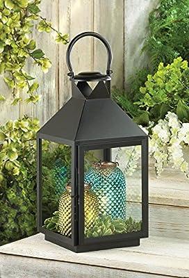 Large Americana Revere Matte Black Candle Lantern