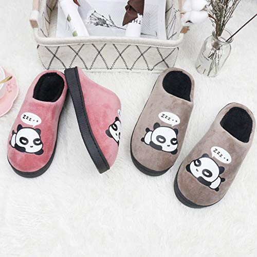for Men for QZBAOSHU Slippers Coffee Women Slippers Panda zOZwR