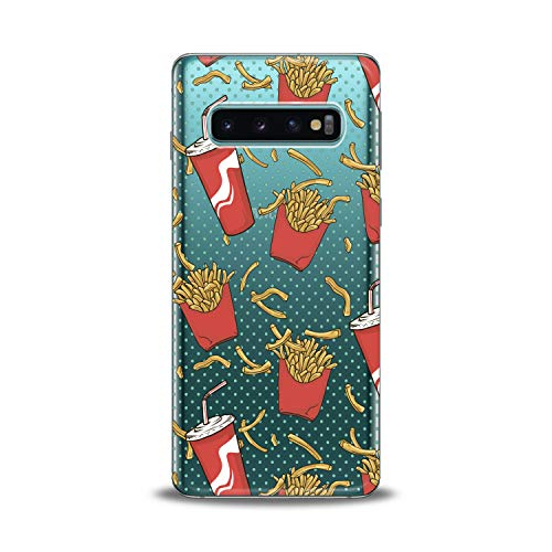 (Lex Altern TPU Case for Samsung Galaxy s10 5G Plus 10e Note 9 s9 s8 s7 Clear Tasty Potato Fries Girl Flexible Cola Teen Cover Print Protective Soda Drinks Women Silicone Yummy Nice Pattern Trend Art)