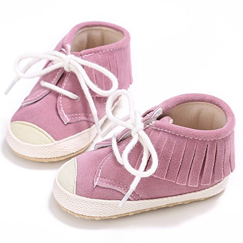 Primeros Suave Bebé Suela Del Con Mes Rosado 12 De 6 6 12 Zapatos Calzado Caminar Para 3 Lona Auxma 18 BczqvPY1