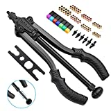 """Rivet Nut Tool, 14"""" Auto Pumping Rod Rivet Nut Setter Kit, 70Pcs Rivnuts, 7Pcs Metric & SAE Mandrels (M5, M6, M8, M10, 10-24, 1/4-20, 5/16-18), Coocheer"""