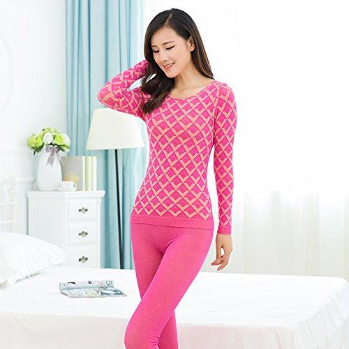 llpxcc biancheria intima termica traspirante da donna abbigliamento Die traspirante Die Rote (F)