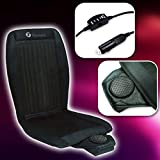 Zone Tech Cooling Car Seat Cushion - Black 12V Automotive Adjustable Temperature Comfortable Cooling Car Seat Cushion