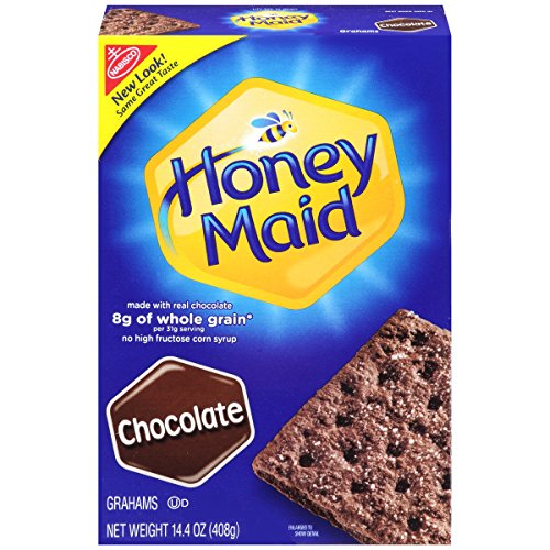 Honey Maid Grahams Chocolate Crackers, 14.4-Ounce Boxes (Pack of 12)