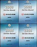 2008 Dodge Nitro Repair Shop Manual 4 Vol Set Original