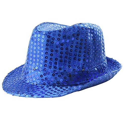 - Party Hats -Luminous Hats Men And Women Concert Party Cheering Props Flash Jazz Hat - Glitter Photo Small Theme Sombrero Green Sparkle Masks Straw Jungle Unicorn Women Captain Kids S