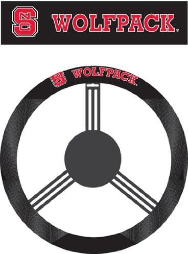 New NCAA North Carolina Tar Heels Black Mesh Extra Grip Steering Wheel Cover