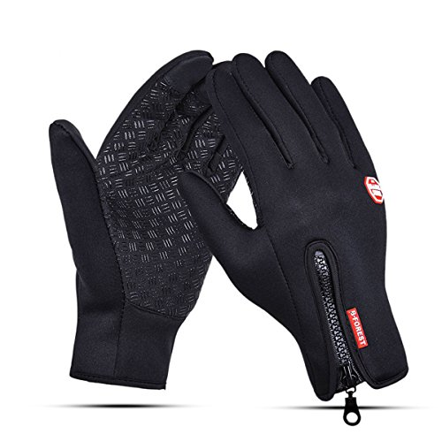(B-FOREST Bicycle Gloves with Touch Screen Fingers Bike Gloves Climbing Gloves Mountain Biking Gloves Fingers Outdoor Sports Gloves for Men & Women (L))